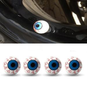 4Pcs Auto-Reifen-Luftventilkappen-Augen-Ball-Rad-Ventil-Kappen-Abdeckung Reifen Schraube Staub-Beweis-Stecker für Auto-LKW-Fahrrad-Auto-Dekoration