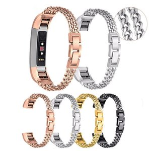 New Stainless Steel Double Chains Fitbit alta Bracelet Band Metal Watch wrist Bands Smartwatch Straps