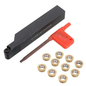 SRAPR1616H10 CNC Face Milling Externe Drehmaschine Klingenhalter Drehen Boring Tool + 10 stücke RPMT10T3MO Einsätze
