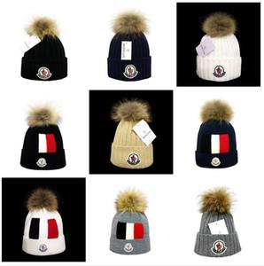 Фирменное наименование Канада хип-хоп шапочки с забавным пом классическая мода повседневная Зима из двери Monc шерсть Skullies Шапочка шляпа для мужчин и женщин