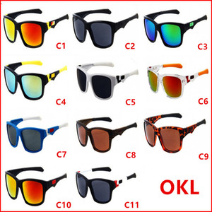 Gafas deportivas gratuitas rápidas Bicycle Glass 11 colores Gafas de sol grandes Sports Cycling Gafas de sol Fashion Dazzle Color Mirrors 9135