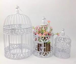 Europeo bianco e nero Vintage Birds Cage Fashion Cinnamon ferro birdcage decorazione di nozze puntelli decorazione decorativa gabbia per uccelli