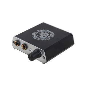 Mini Tattoo Supply Pocket Power Box Kundenspezifische Logo Silber und Schwarzfarbe Durable Netzteil mit Schnur