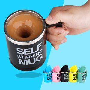 misturador auto agitação copo caneca de café elétrico elétrico automático mexendo caneca de auto Beber Cup Mixer 400ml 6 cores