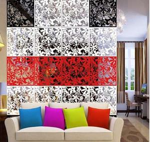 4 unids Flor Wallpaper Wall Sticker Hanging Screen Curtain Room Divider Partition Nuevo Feshion Decoración Del Hogar