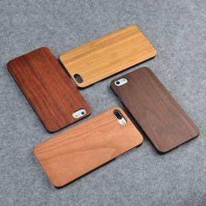 Creativo logotipo personalizado caso de madera para Iphone 10 X 7 8 6 6S 5 5S SE cajas de teléfono de madera Natural llano bambú cubierta móvil para Samsung S8 S9