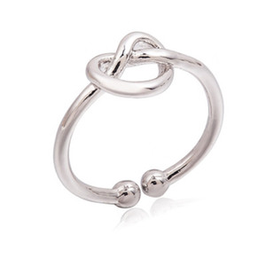 Бесконечность Узел Кольцо Простой Кулак Сердце Узел Открытые Кольца Для Женщин Девушка Свадьба Обручальное Ювелирные Изделия Подарок Оптом