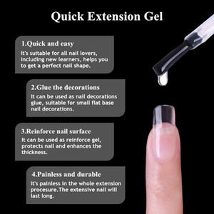 UR SUGAR 3 PCS Clear Gel de extensión rápida Esmalte de uñas UV Builder Gel Nail Art Poly