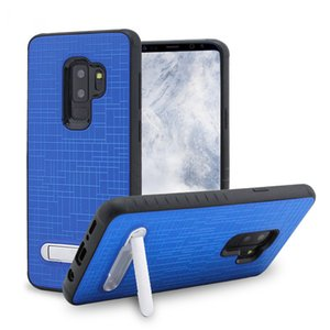 Para LG Q7 além de Stylo 4 Metropcs Alcatel 7 Combo Kickstand estilo de tecido Caso Shock Absorption Flexível Capa Protetora