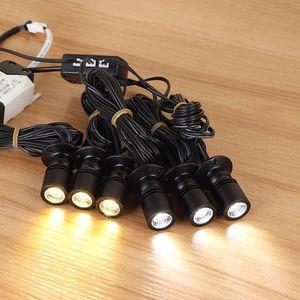 Série Conexão 6-10 W Mini LED Holofotes Pequena Lâmpada LED Para Showcase Display Case Lâmpada Grupo Fácil Instalação