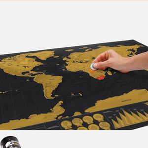 перевозка груза падение царапины с картой мира черной для домашнего украшения стены корабля искусства старинных плакатов г путешествия и гостиной декор комнаты