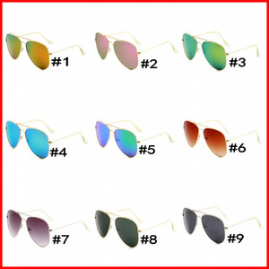 Free Shipping Sunglasses Women Men Brand Designer Metal Frame Flat lens Coating uv400 Sun glasses Goggle Eyewear