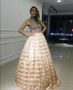 Evening dress Long Dress Strapless Ball Gown Bateau Beaded Elegant O-Neck Ruffle Satin Split Side Zipper Mermaid Zuhair murad Kim kardashian