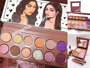 Nouvelle ombre à paupières WIFE LIFE 12 couleurs4 couleurs Maquillage Cosmétique Grand Ensemble La Collection de Maquillage Bundle Glitter Surligneur Femme Vie Ensemble Complet