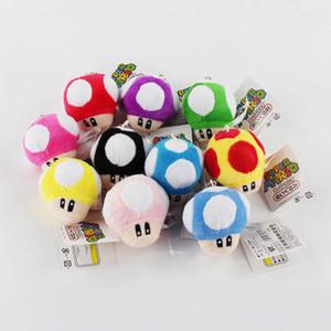 Alta Qualidade 10pcs 100% algodão / Lot 6 centímetros Cogumelo Luigi Bros presentes Plush Toys Keychain pendente para crianças férias NOMA022