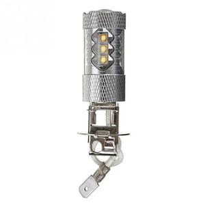 1pc High Power H3 LED Car Light 80W LED Super Bright White Fog Tail Turn DRL Head Car Light Daytime Running Lamp Bulb 12V