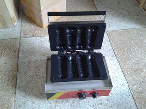 Ücretsiz Kargo 220 v-240 v 110 v Elektrikli 4 adet Otomatik Penis şekli waffle makinesi