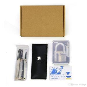 12 pz / set grimaldelli Strumenti fabbro + 5 pz carta di credito blocco della carta di credito pick set + pratica trasparente 7 pin lock padlock
