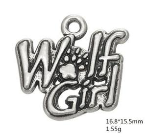 Cadeau Word Wolf Girl Charms Pour Bijoux De Femmes