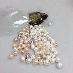 Presente extravagante Akoya Alta qualidade barato amor shell de água doce pérola ostra 8-9mm cores misturadas ostra pérola com embalagem a vácuo
