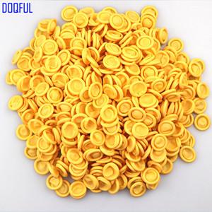 1000G / 1600pcs Sarı / Beyaz Anti Statik Kauçuk Parmak Kol Elastik Çalışma Parmaklar Kollu Uzatma Eldiven Tozsuz Atölye