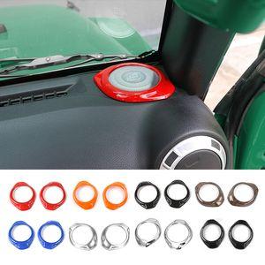 سيارة عمود العمود القرن المتحدث خواتم الزخرفية يغطي يصلح ل جيب رانجلر 2015-2016 اكسسوارات السيارات الداخلية التصميم
