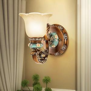Living Room Background Resin Wall Lamp Hotel Camera da letto Comodino Sconce Scale Aisle Lampada a led Specchio da bagno Luci Luci da parete in vetro