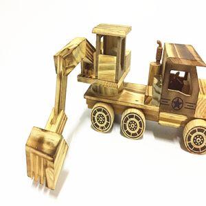 نموذج لعبة خشبية شاحنة حفارة الدوار