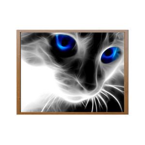 Criativo olhos azuis pequeno gato preto pintura diamante diamante cheio de 5d diamante diy pintura de decoração para casa