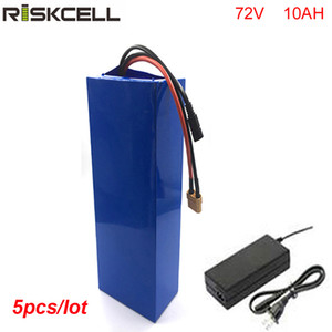 5 pz / lotto fai da te 72 volt 1500 w li-ion akku 72 v 10ah batteria agli ioni di litio con BMS e caricabatterie