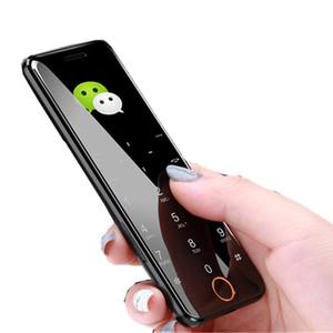 ULCOOL V6 V66 telefono cellulare di lusso Super Mini Ultrathin Card originale con MP3 Bluetooth 1.67 pollici Antipolvere cellulari cellulari antiurto