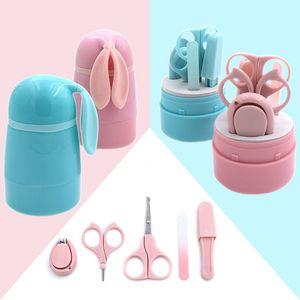 Baby Lovely Nail Clippers Trimmer Azul Rosa Uñas de seguridad Tijeras Cáscara de uñas Cizallar Set de manicura Cuidado del bebé