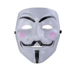 V para Vendetta Mask Anonymous Guy Fawkes Fancy Cool Costume Máscara de Cosplay para Fiestas, Carnavales Un tamaño para la mayoría de los adolescentes a los adultos