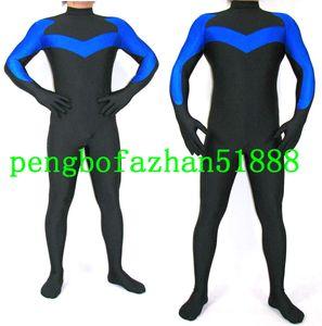 Fantasy Superhero Body Suit Trajes Outfit Nova Preto / Azul Lycra Spandex Super Hero Suit Catsuit Trajes Unisex Halloween Cosplay Terno P204