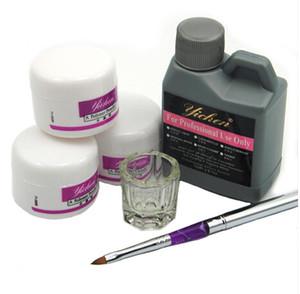 Vente en gros - Vente chaude Pro Acrylique Nail Poudre Liquide 120ML Brosses Deppen Plat Acryl Poeder Nail Art Ensemble Design Acrilico Manucure Kit 153 #