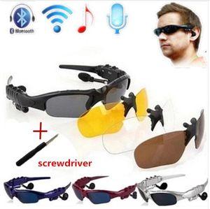 Drei sätze von bluetooth brille objektiv drahtlose bluetooth 4,0 headset telefon fahren sonnenbrille / mp3 augen brille