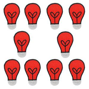 Красная лампа патчи для одежды сумки железа на передачу аппликация мультфильм патч для куртки джинсы DIY шить на вышитые наклейки