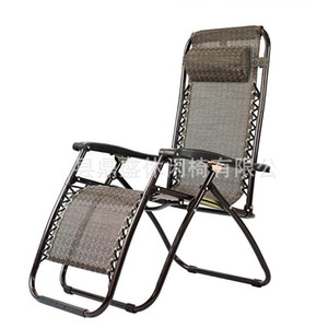 Lässige faltbare Liegestuhl Praktische Metallrahmen Strand Rückenlehne Stühle korrosionsbeständig Chaiselongue für Outdoor-Garten 85ds BB