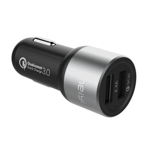 Quick Charge 3.0 Car Charger 2 Port USB Fast Charger Adapter for iPhone Samsung Xiaomi HTC Tablet Car-Charger