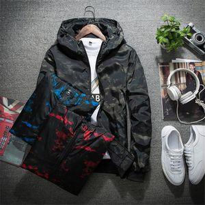 Designer Frühling Herbst Mens Casual Camouflage Hoodie Jacke Männer Wasserdichte Kleidung Männer Windjacke Mantel Männlichen Outwear 4XL