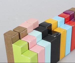 Fête d'anniversaire Emballage Paquet boîte colorée de papier Kraft Craft cadeau Boîtes d'emballage Lipstick Paperboard Livraison gratuite de mariage