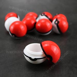 6ml pokeball geformt lebensmittelqualität silikon ball container fall glas für tupfen öl silikon wachs behälter jab speicher dabber werkzeug
