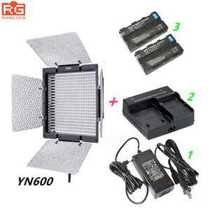 도매 YN600 Yongnuo YN - 600 3200 - 5500k LED 비디오 라이트 + AC 어댑터 + 2 * NP - F550 + 충전기