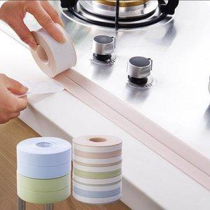 Wholesale 1 PCS 3.0*260CM DIY PVC Waterproof Mildew Proof Adhesive Tape Kitchen Sink Joint Crevice Sticker Corner Line Sticking Strip