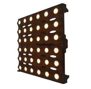 neue Produkte Hintergrundbeleuchtung golden 36x3w Bernstein Led Blinder Strahl Licht 6x6 LED Gold Matrix Licht