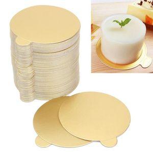 Rodada Mousse Bolo Boards Cupcake De Papel De Ouro Exibe Sobremesa Bolo De Aniversário De Casamento Pastelaria Ferramentas Decorativas Kit