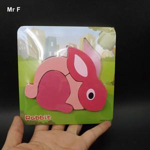Eğlenceli Oyun Tavşan Ahşap Oyuncaklar Bulmaca Jigsaw Kurulu Hayvan Eşleştirme Aydınlanma Çocuklar Hediyeler Bebek Öğrenme Eğitim