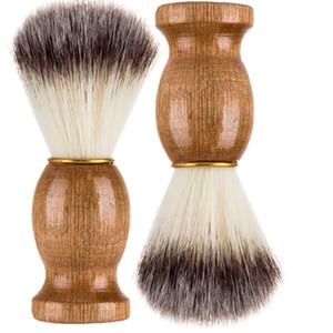مقبض جديد حلاقة الشعر حلاقة الحلاقة فرش الخشب الطبيعي اللحية فرشاة للرجال أفضل هدية الحلاق أداة مجانا DHL