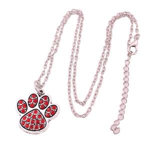 Ciondolo con strass di cristallo ciondoli artiglio stampa impronta collana gioielli piccolo delicato choker bel regalo di gioielli amante delle donne