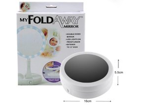 My Fold Away Make Up Specchio a LED Rotazione a 360 gradi Touch Screen Make Up Specchietti tascabili compatti portatili pieghevoli